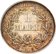 1 mark - Wilhelm I (type 1 - petit aigle) – revers