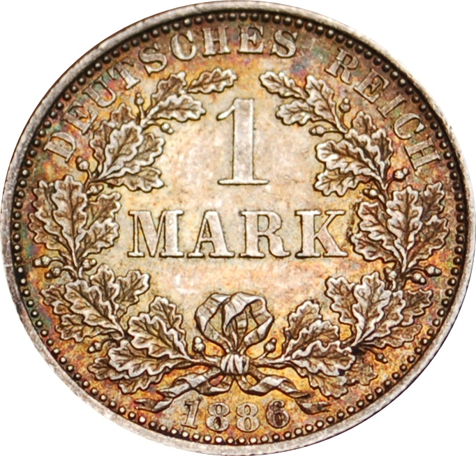 1 Mark Wilhelm I Type 1 Petit Aigle Allemagne 1871 1948