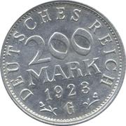 200 marks – revers
