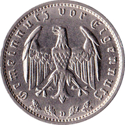 1 reichsmark -  avers