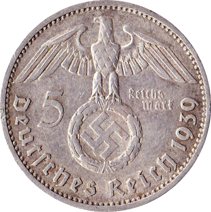 5 Reichsmark Paul Von Hindenburg Allemagne 1871 1948 Numista