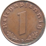 1 reichspfennig (bronze) – revers