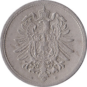 10 pfennig - Wilhelm I (type 1 - petit aigle) – avers