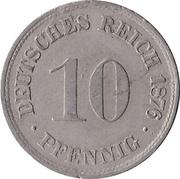 10 pfennig - Wilhelm I (type 1 - petit aigle) – revers
