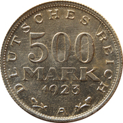 500 marks – revers