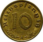 10 reichspfennig -  revers