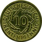 10 rentenpfennig -  revers