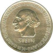 3 reichsmark (Heinrich Friedrich Karl vom Stein) -  avers