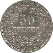 50 pfennig - Wilhelm II – revers