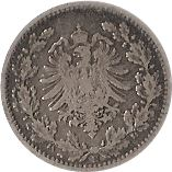 50 pfennig - Wilhelm I (type 1 - petit aigle) – avers