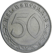 50 reichspfennig -  revers