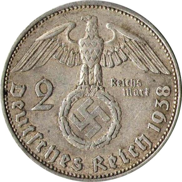 2 Reichsmark Paul Von Hindenburg Allemagne 1871 1948 Numista