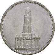 5 reichsmark (Église de la garnison de Potsdam) – revers