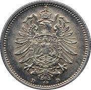 20 pfennig - Wilhelm I (type 1 - petit aigle) – avers