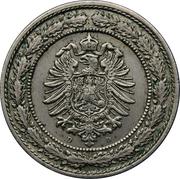 20 pfennig - Wilhelm I (petit aigle) – avers
