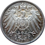 1 mark - Wilhelm II (type 2 - grand aigle) – avers