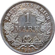 1 mark - Wilhelm II (type 2 - grand aigle) -  avers
