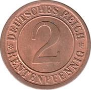 2 rentenpfennig -  revers