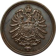 1 pfennig - Wilhelm I (type 1 - petit aigle) – avers
