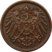 2 pfennig - Wilhelm II (type 2 - grand aigle) -  avers