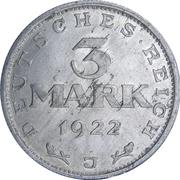 3 marks (Constitution de Weimar ) -  revers