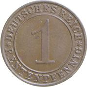 1 rentenpfennig -  revers