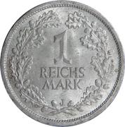 1 reichsmark -  revers