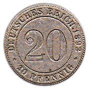 20 pfennig - Wilhelm II – revers