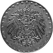 10 pfennig - Wilhelm II (type 2 - grand aigle entouré de points, fer) -  avers