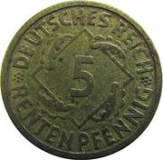 5 rentenpfennig -  revers
