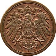 1 pfennig - Wilhelm II (type 2 - grand aigle) – avers
