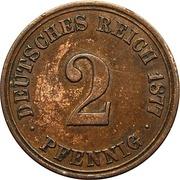2 pfennig - Wilhelm I (type 1 - petit aigle) – revers