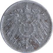 5 pfennig - Wilhelm II (type 2 - grand aigle, fer) -  avers