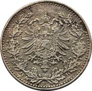 50 pfennig - Wilhelm I (type 1 - petit aigle) -  avers