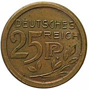 25 Pfennig - Wilhelm II (Essai) – avers