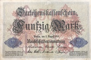 50 mark (Darlehenskassenschein) -  avers