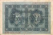 50 mark (Darlehenskassenschein) -  revers