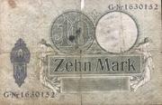 10 Mark (Reichskassenschein) – revers