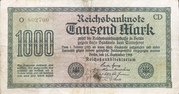 1000 mark (Reichsbanknote) -  avers