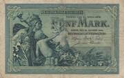 5 Mark (Reichskassenschein) – avers