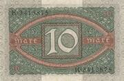10 Mark (Reichsbanknote) – revers