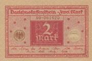 2 mark (Darlehnskassenschein) -  avers