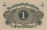 1 mark (Darlehnskassenschein) -  revers