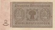 2 rentenmark (Rentenbankschein) -  revers