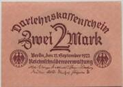 2 Mark (Darlehnskassenschein) – avers