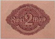 2 Mark (Darlehnskassenschein) – revers