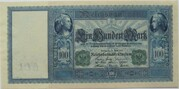 100 Mark (Reichsbanknote; green seal) – avers