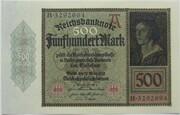 500 Mark (Reichsbanknote) – avers