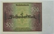 500 Mark (Reichsbanknote) – revers