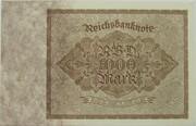 1000 Mark (Reichsbanknote) – revers